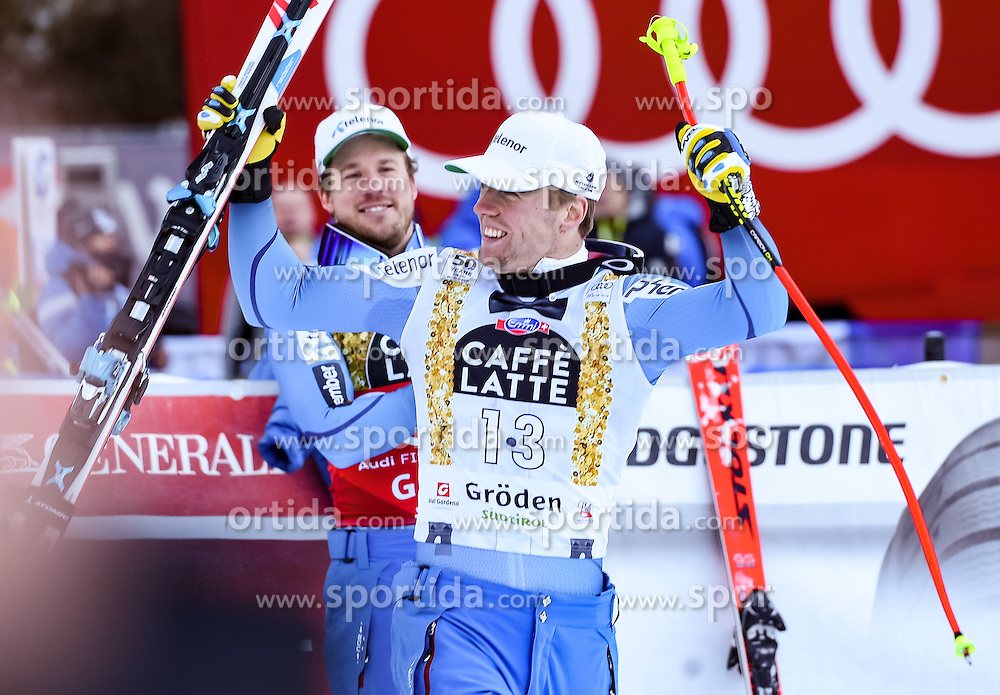 16.12.2016, Saslong, St. Christina, ITA, FIS Ski Weltcup, Groeden, Super G, Herren, Flower Zeremonie im Bild Aleksander Aamodt Kilde (NOR, 2. Platz) // second placed Aleksander Aamodt Kilde of Norway during the Flowers ceremony for the men's SuperG of FIS Ski Alpine World Cup at the Saslong race course in St. Christina, Italy on 2016/12/16. EXPA Pictures © 2016, PhotoCredit: EXPA/ Erich Spiess