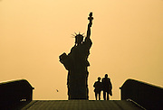 Île des Cygnes, Statue of Liberty (a smaller copy of the one given to New York).
