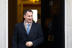 © Licensed to London News Pictures. 30/01/2018. London, UK. Health and Social Care Secretary Jeremy Hunt leaving Downing Street after attending a Cabinet meeting this morning. Photo credit : Tom Nicholson/LNP