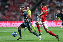 September 19, 2018 - Lisbon, Portugal - Bayern Munich's midfielder Franck Ribery from France (L) vies with Benfica's Portuguese defender Ruben Dias during the UEFA Champions League Group E football match SL Benfica vs Bayern Munich at the Luz stadium in Lisbon, Portugal on September 19, 2018. (Credit Image: © Pedro Fiuza/ZUMA Wire)