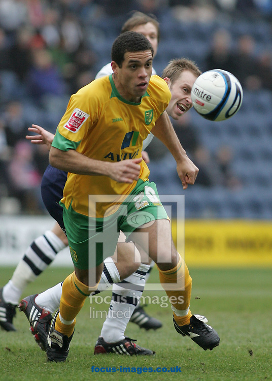 Preston - Saturday February 14th, 2009: Darel Russell of Norwich City in action against Preston North End during the Coca Cola Championship match at Deepdale, Preston. (Pic by Michael Sedgwick/Focus Images)