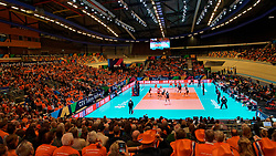 11–01-2020 NED: Semi Final Olympic qualification tournament women Germany - Netherlands, Apeldoorn<br /> First semi final match Germany - Netherlands 3-0 / Centercourt view, Fit for free boarding