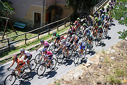Boels Dolmans positioned on the front up the the first climb of the day Giro Rosa 2016 - Stage 6. A 118.6 km road race from Andora to Alassio, Italy on July 7th 2016.
