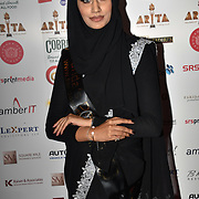Eniyah Rana of Modest Street Hijabi Makeup Stylist and blogger attend Asian Restaurant & Takeaway Awards | ARTA 2018 at InterContinental London - The O2, London, UK. 30 September 2018.