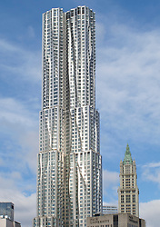 New Beekman Tower at 8 Spruce street  designed by Frank Gehry on Manhattan Island New York city USA