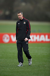 CARDIFF, WALES - Monday, March 21, 2011: Wales' physiotherapist Michael Kuijpers during a training session at the Vale of Glamorgan ahead of the UEFA Euro 2012 qualifying Group G match against England. (Photo by David Rawcliffe/Propaganda)