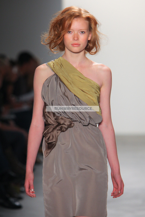 A model walks the runway wearing Costello Tagliapietra during Mercedes-Benz Fashion Week Spring 2010 on September 11, 2009 in New York City