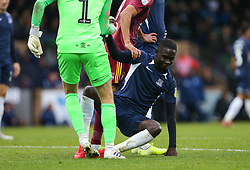 Elvis Bwomono of Southend United is helped to his feet - Mandatory by-line: Arron Gent/JMP - 27/10/2019 - FOOTBALL - Roots Hall - Southend-on-Sea, England - Southend United v Ipswich Town - Sky Bet League One