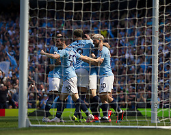 Phil Foden of Manchester City (Hidden) celebrates scoring his sides first goal - Mandatory by-line: Jack Phillips/JMP - 20/04/2019 - FOOTBALL - Etihad Stadium - Manchester, England - Manchester City v Tottenham Hotspur - English Premier League