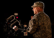 Lt. Gen. Mark Mileey, III Corps & Fort Hood commanding general addresses news media at Fort Hood military base near Killeen, TX on Wed. April 2, 2014 after an active shooter killed four, including himself, and injured 16.