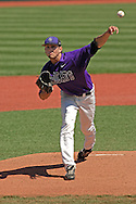 Kansas State starting pitcher Ben Hornbeck fires in a pitch against Texas Tech at Tointon Stadium in  Manhattan, Kansas, April 1, 2007.  Kansas State defeated Texas Tech 7-3.