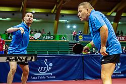 ZBORAI Gyula Istvan (HUN) and CSONKA Andras (HUN) during Team events at Day 3 of 16th Slovenia Open - Thermana Lasko 2018 Table Tennis for the Disabled, on May 10, 2019, in Dvorana Tri Lilije, Lasko, Slovenia. Photo by Grega Valancic / Sportida