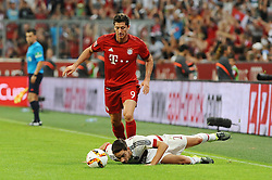 04.08.2015, Allianz Arena, Muenchen, GER, AUDI CUP, FC Bayern Muenchen vs AC Mailand, im Bild Robert Lewandowski (FC Bayern Muenchen) und Mattia de Sciglio (AC Mailand) am Boden // during the 2015 AUDI Cup Match between FC Bayern Muenchen and AC Mailand at the Allianz Arena in Muenchen, Germany on 2015/08/04. EXPA Pictures © 2015, PhotoCredit: EXPA/ Eibner-Pressefoto/ Stuetzle<br /> <br /> *****ATTENTION - OUT of GER*****