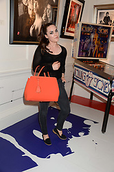 TALLULAH HARLECH at Ronnie Wood's Raw Instinct Summer Party held at Castle Fine Art, Bruton Street, London on 9th July 2013.