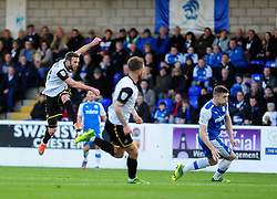 Bristol Rovers' Andy Monkhouse gets a shot away - Photo mandatory by-line: Neil Brookman/JMP - Mobile: 07966 386802 - 22/11/2014 - Sport - Football - Chester - Deva Stadium - Chester v Bristol Rovers - Vanarama Football Conference