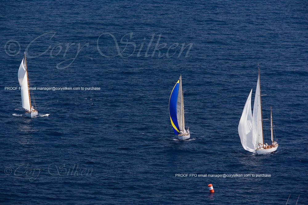 Juno, Lone Fox, Mariella at the Antigua Classic Yacht Regatta