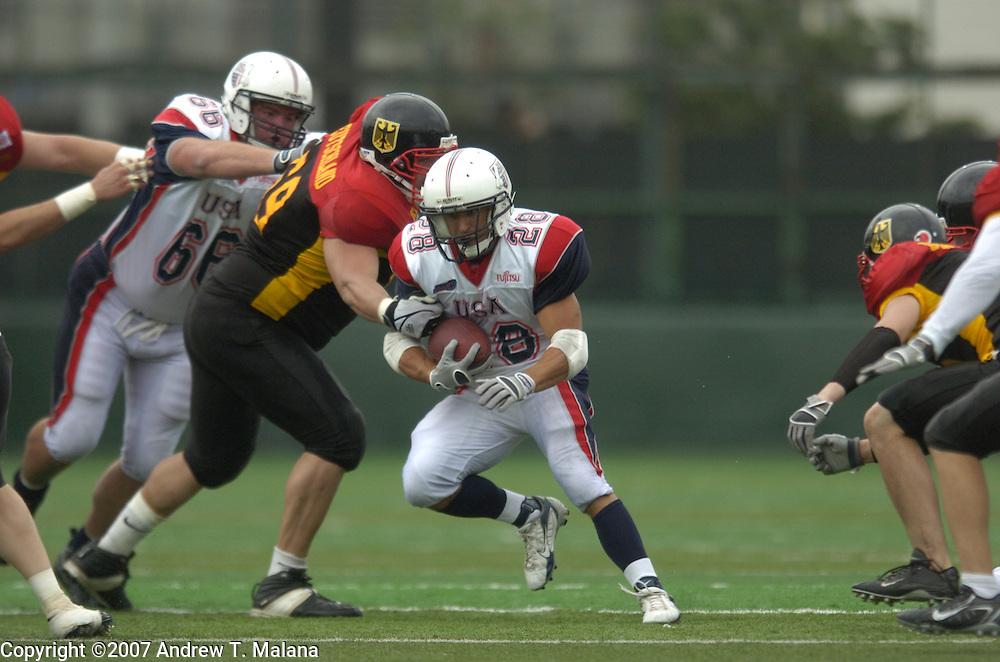 Team USA vs Team Germany..Doug Blakowski in action against Team Germany  at Todoroki Stadium..