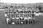 The Kerry team before the All Ireland Minor Gaelic Football Final, Tyrone v Kerry in Croke Park on the 28th September 1975.<br />
