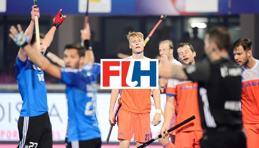 Odisha Men's Hockey World League Final Bhubaneswar 2017<br /> Match id:08<br /> Netherlands v Argentina<br /> Foto: Argentina scored 3-3, Joep de Mol is disappointed <br /> WORLDSPORTPICS COPYRIGHT FRANK UIJLENBROEK