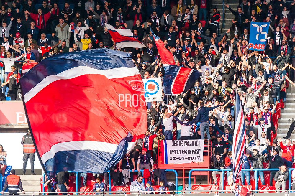 Ambiance fan zone of psg during the French Championship Ligue 1 football match between Paris Saint-Germain and SCO Angers on march 14, 2018 at Parc des Princes stadium in Paris, France - Photo Pierre Charlier / DPPI