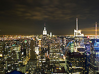 Empire State Building and Downtown Manhattan Scenic View from Top of the Rock, New York City, New York