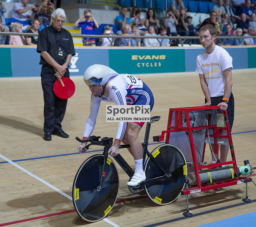 Mark Cavendish, Team GB starts the Men's Omnium Individual Pursuit at the Revoultion Series 2015/6 Round 1 Derby, Day 2, on 15 August 2015 ( (Photo by Mike Poole - Photopoole)