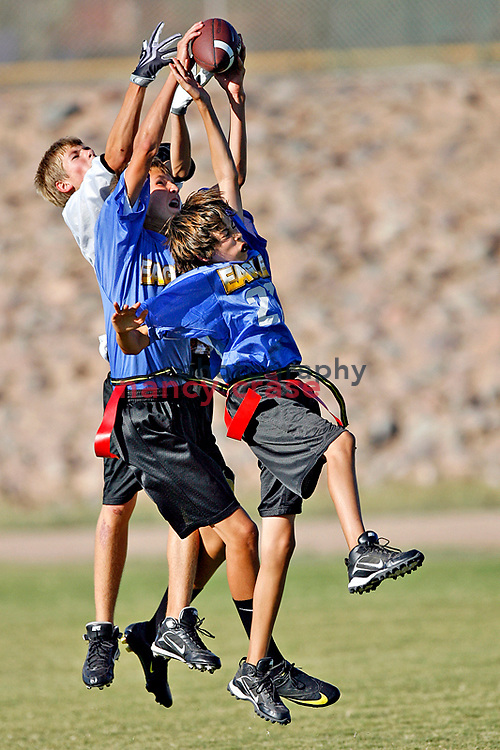 Phoenix Country Day School 7 and 8 grade flag football against Tesseract.  PCDS won.