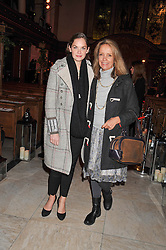 Left to right, RUTH WILSON and SABRINA GUINNESS at the Fayre of St. James Christmas Carol Service organised by the Quintessentially Foundation in aid of War Child held St.James's Piccadilly, London on 29th November 2012.