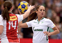 11-04-2015 NED: PKC SWKgroep - TOP Quoratio, Rotterdam<br /> Korfbal Leaguefinale in een volgepakt Ahoy / <br /> Mady Tims