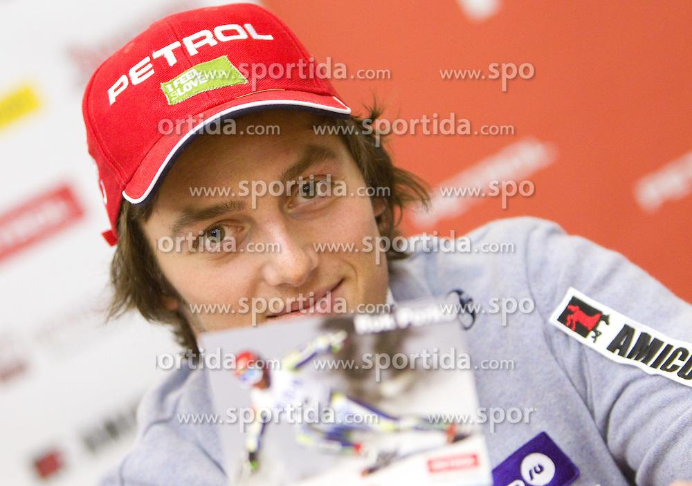 Rok Perko at press conference of Men Alpine Ski team and sponsor Petrol, on December 8, 2010 in Petrol, Ljubljana, Slovenia. (Photo By Vid Ponikvar / Sportida.com)