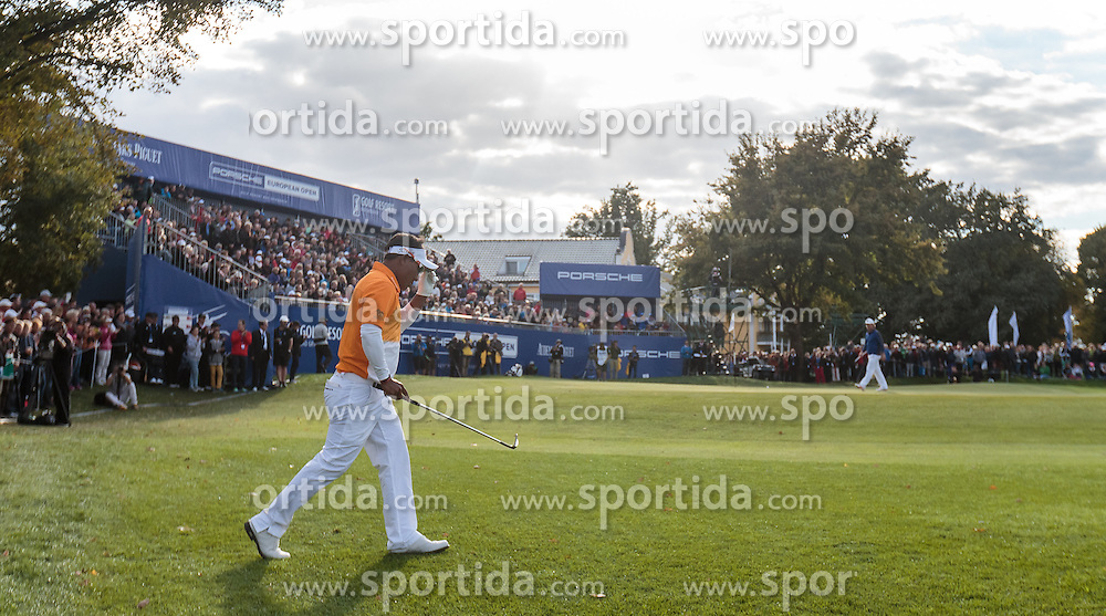 27.09.2015, Beckenbauer Golf Course, Bad Griesbach, GER, PGA European Tour, Porsche European Open, im Bild // during the European Tour, Porsche European Open Golf Tournament at the Beckenbauer Golf Course in Bad Griesbach, Germany on 2015/09/27. EXPA Pictures © 2015, PhotoCredit: EXPA/ JFK