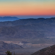Sunset over the Anza Borrego Desert. As seen from an overlook along the sunrise highway just past Cleveland National Forest.