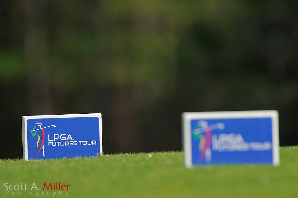 Tee markers during the second round of the LPGA Futures Tour's Daytona Beach Invitational at LPGA International's Championship Course on April 2, 2011 in Daytona Beach, Florida... ©2011 Scott A. Miller