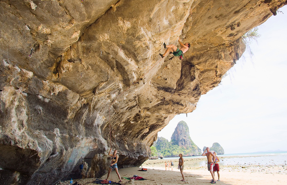 Rock climbers on Tonsai Beach Southern Thailand&amp;#xA;<br />