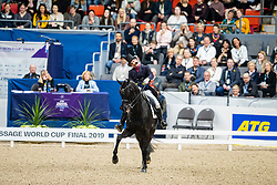 Tristan Tucker show<br /> Göteborg - Gothenburg Horse Show 2019 <br /> FEI Dressage World Cup™ Final II<br /> Grand Prix Freestyle/Kür<br /> Longines FEI Jumping World Cup™ Final and FEI Dressage World Cup™ Final<br /> 06. April 2019<br /> © www.sportfotos-lafrentz.de/Stefan Lafrentz