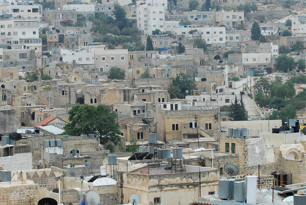 A general view of the West Bank city of Hebron. Oct. 21, 2009.. Photo by Gili Yaari.. *** Local Caption *** ?????..???? ??????..??? ????..???