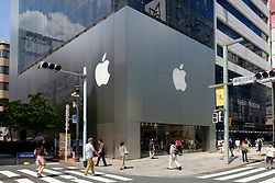 Exterior of Apple store in Ginza Tokyo Japan