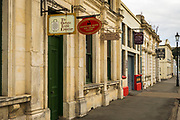 Galleries and shops in the Victorian district, Oamaru, Otago, South Island, New Zealand