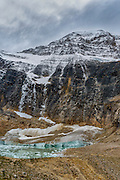Landscape photographs of Angel Glacier and  Cavell Lake, AB, Canada