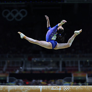 Gymnastics - Olympics: Day 10  Isabela Onyshko #319 of Canada performing her routine in the Women's Balance Beam Final during the Artistic Gymnastics competition at the Rio Olympic Arena on August 15, 2016 in Rio de Janeiro, Brazil. (Photo by Tim Clayton/Corbis via Getty Images)