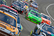 August 16, 2009: The field comes around turn one on a resart at the CARFAX 400 race, Michigan International Speedway, Brooklyn, MI.