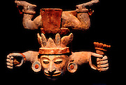 MEXICO, MEXICO CITY, MUSEUM Mayan polychrome, incense burner