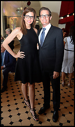 Kyle MacLachlan with Desiree Gruber  attend the National Youth Orchestra of The United States of America Reception at the <br /> The Royal Albert Hall hosted by Ronald O.Perelman, London, United Kingdom,<br /> Sunday, 21st July 2013<br /> Picture by Andrew Parsons / i-Images