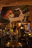 France. paris. 12th district. Wine testing in square trousseau cafe restaurant paris france  / degustation de vin au cafe restaurant du square trousseau