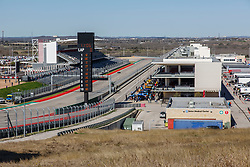 February 12, 2019 - U.S. - AUSTIN, TX - FEBRUARY 12: View of the pit straight and the pits during the IndyCar Spring Training held February 11-13, 2019 at Circuit of the Americas in Austin, TX. (Photo by Allan Hamilton/Icon Sportswire) (Credit Image: © Allan Hamilton/Icon SMI via ZUMA Press)