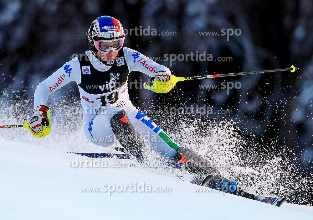 04.01.2013, Crveni Spust, Zagreb, AUT, FIS Ski Alpin Weltcup, Slalom, Damen, 1. Lauf, im Bild Manuela Moelgg (ITA) // Manuela Moelgg of Italy in action during 1st Run of the ladies Slalom of the FIS ski alpine world cup at Crveni Spust course in Zagreb, Croatia on 2013/01/04. EXPA Pictures © 2013, PhotoCredit: EXPA/ Pixsell/ Jurica Galoic..***** ATTENTION - for AUT, SLO, SUI, ITA, FRA only *****