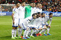 Israel's team photo with Eran Zahavi, Rami Gershon, Ofir Marciano, Eytan Tibi, Daniel Einbinder, Tal Ben Chaim, Bribas Natcho, Eli Dasa, Lior Refaelov, Shir Tzedek and Almog Cohen during FIFA World Cup 2018 Qualifying Round match. March 24,2017.(ALTERPHOTOS/Acero)