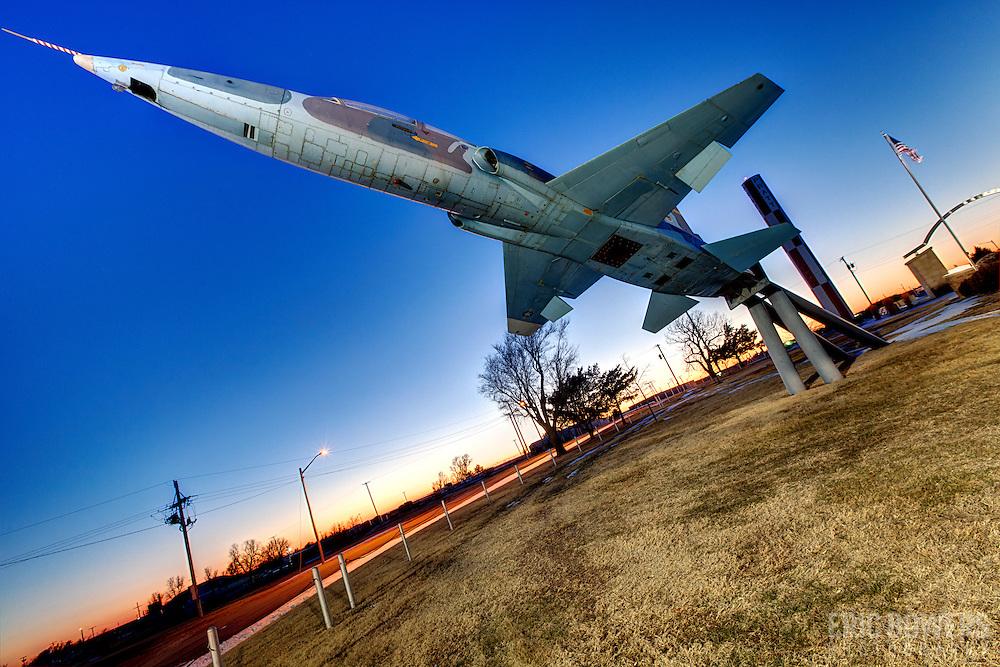 T-38 Talon on display at the B-29 All Veterans Memorial at the Pratt Municipal Airport in Pratt, Kansas.