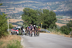 Sabrina Stultiens (NED) of Team Sunweb leads the small break up on the stage's main climb during Stage 7 of the Giro Rosa - a 141.9 km road race, between Isernia and Baronissi on July 6, 2017, in Isernia, Italy. (Photo by Balint Hamvas/Velofocus.com)