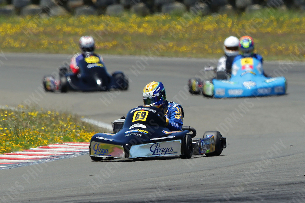 Josh Hart races in the Rotax Light class during the 2013 Superkart National Champs and Grand Prix at Manfeild in Feilding, New Zealand on Saturday, 5 January 2013. Credit: Hagen Hopkins.